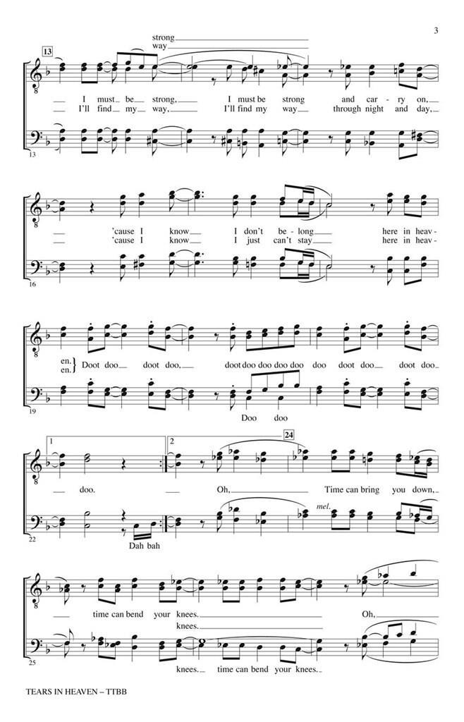 Eric Clapton: Tears in Heaven: Arr  (Kirby Shaw): TTBB