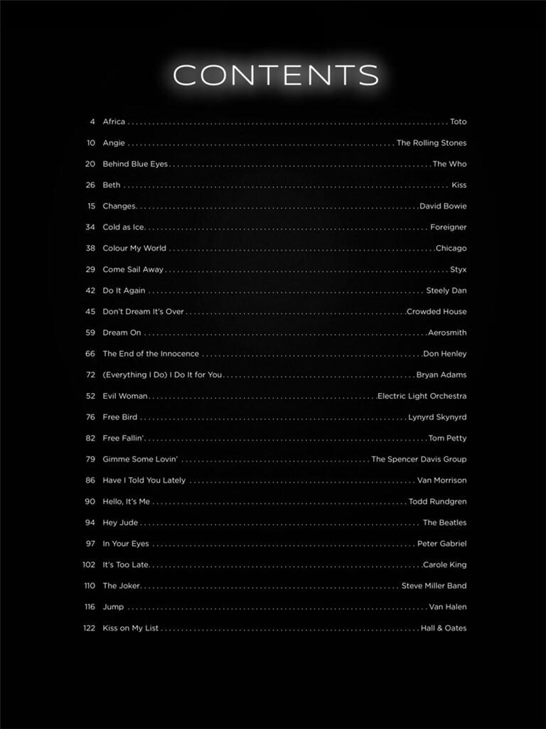 First 50 Classic Rock Songs You Should Play: Easy Piano | Musicroom com