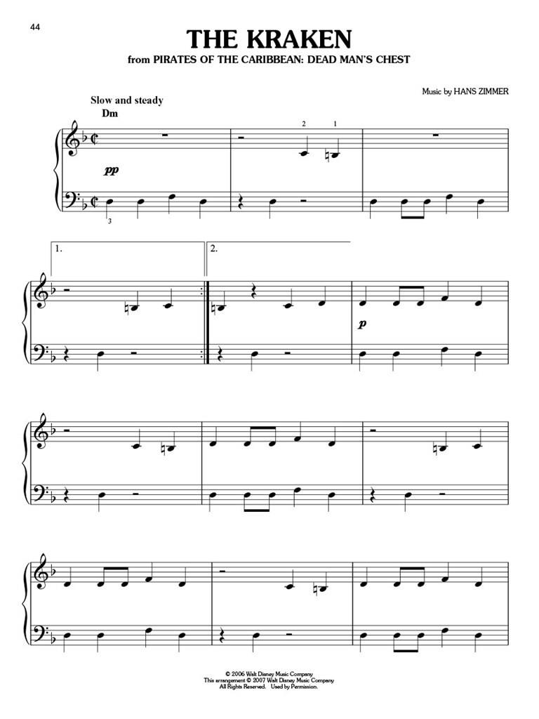 picture about Disney Piano Sheet Music Free Printable named Pirates of the Caribbean: Uncomplicated Piano