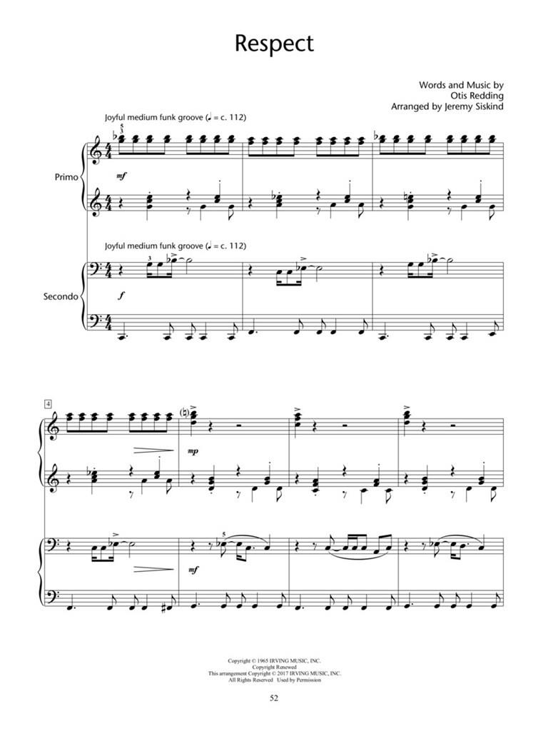 Pop Hits for Piano Duet - Popular Songs