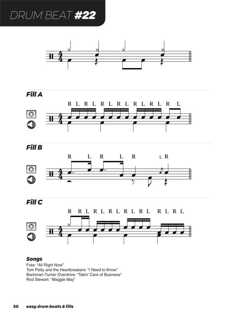 Easy Drum Beats & Fills: Drum Kit | Musicroom com