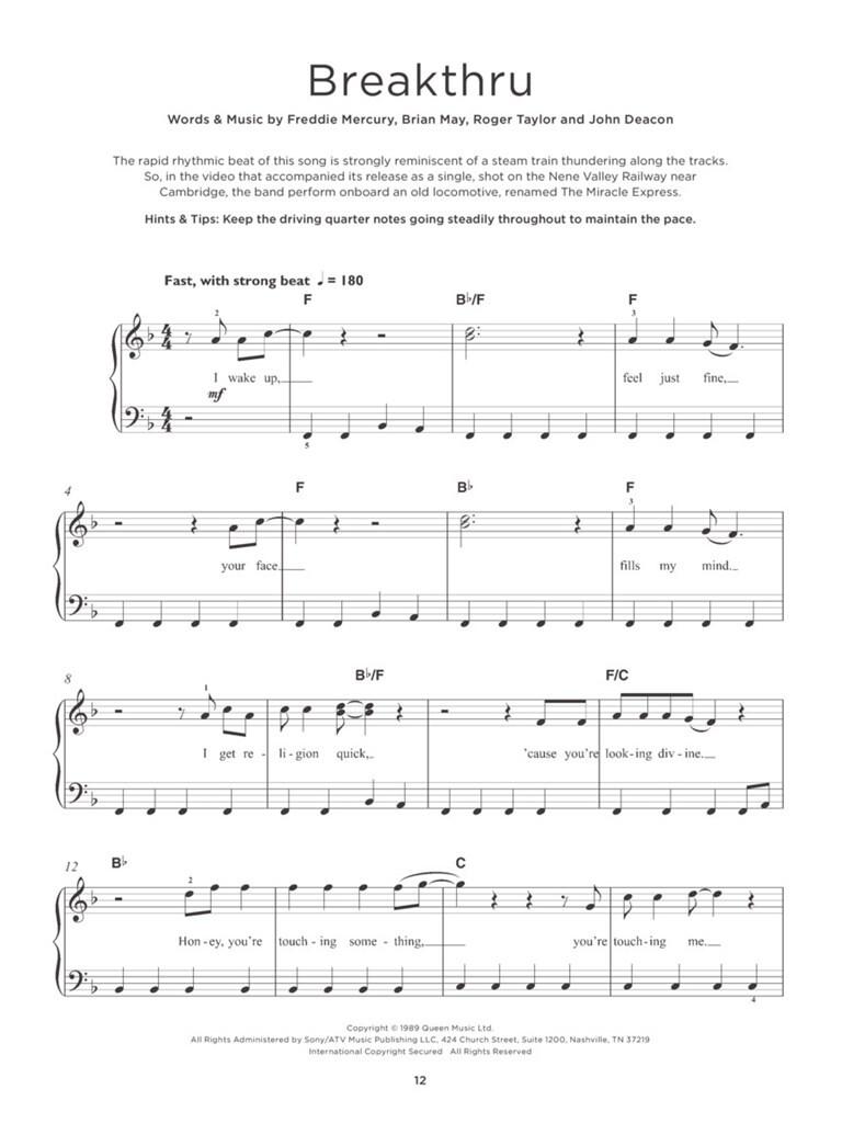Queen Really Easy Piano Queen Easy Piano Musicroom Com