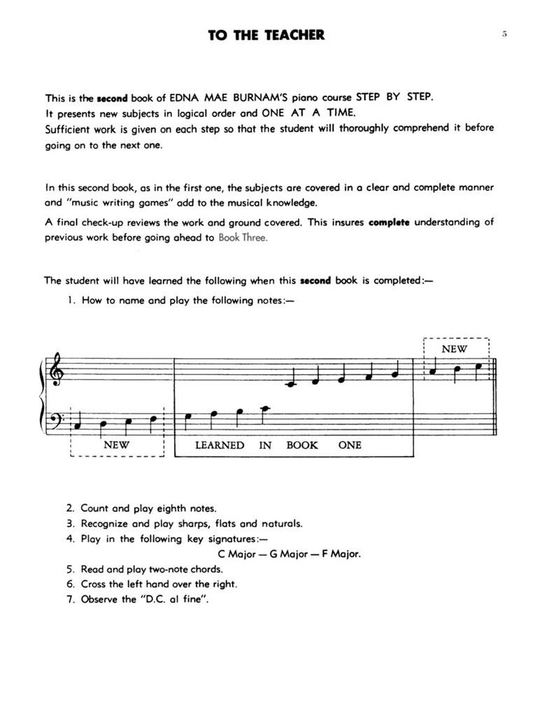 Step By Step Piano Course - Book 2 | Musicroom com