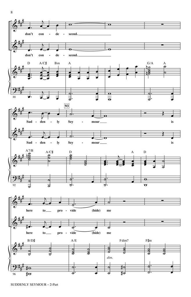 Alan Menken Howard Ashman: Suddenly Seymour: Vocal: Vocal Score sheet music