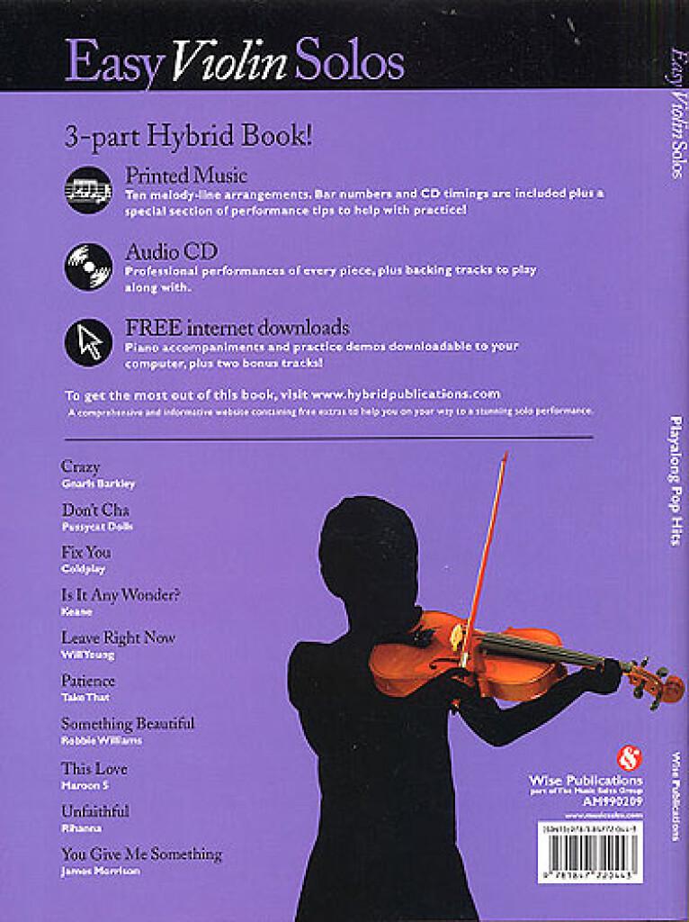 Easy Violin Solos: Playalong Pop Hits: Violin   Musicroom com