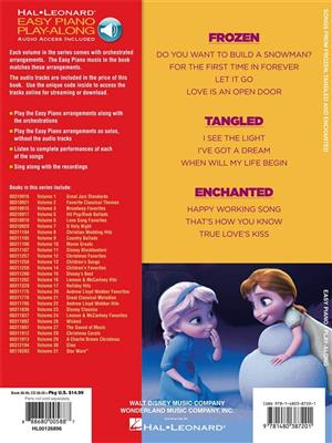 Easy Piano Play-Along Volume 32: Songs From Frozen, Tangled And Enchanted (Book/Online Audio)