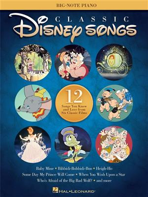 Classic Disney Songs Big Note Piano Songbook