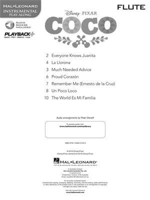 Disney Pixar's Coco: Instrumental Play-Along For Flute (Book/Audio)