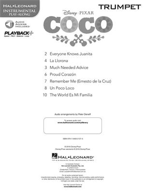 Disney Pixar's Coco: Instrumental Play-Along For Trumpet (Book/Audio)