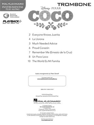 Disney Pixar's Coco: Instrumental Play-Along For Trombone (Book/Audio)