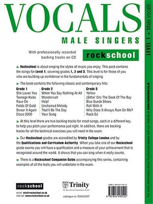 Rockschool Vocals For Male Singers - Level 1