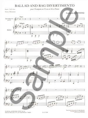 Armando Ghidoni: Ballad and Rag Divertimento: Trumpet