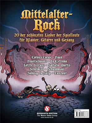 Mittelalter-Rock: Piano, Vocal and Guitar (songbooks)