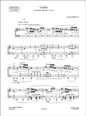 Claude Debussy: Voiles - Extrait Du - Excerpt From Série I Vol. 5: Piano
