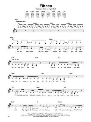 Taylor Swift Strum It Guitar Taylor Swift Melody Lyrics Chords Musicroom Com