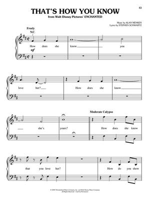 Songs from Frozen, Tangled and Enchanted: Easy Piano