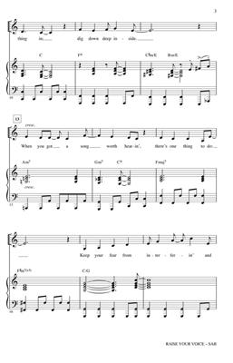 Alan Menken: Raise Your Voice (Arr. Emerson): Mixed Choir