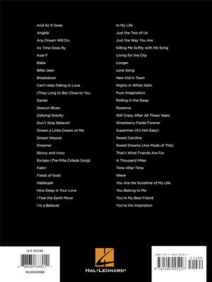 First 50 Songs You Should Play On Keyboard Sheet Music Book Billie Jean Dreamer