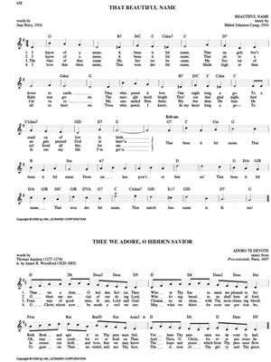 Hymn Book With Chords