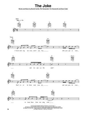 Brandi Carlile - By the Way, I Forgive You: Guitar