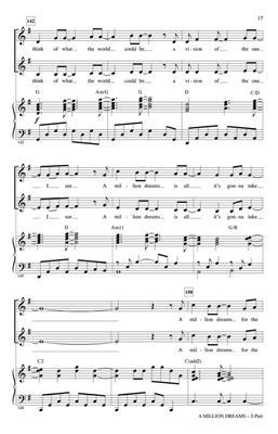 A Million Dreams: Arr  (Mac Huff): 2-Part Choir   Musicroom com