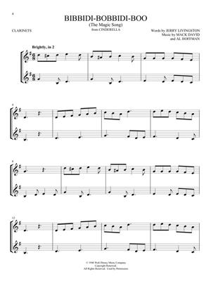 Disney Songs for Two Clarinets: Arr  (Mark Phillips): Clarinet Duet