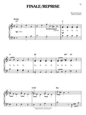 Nightmare Before Christmas Piano Sheet Music.Danny Elfman The Nightmare Before Christmas Easy Piano
