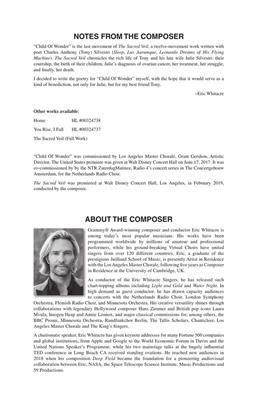 Eric Whitacre: Child of Wonder: SATB