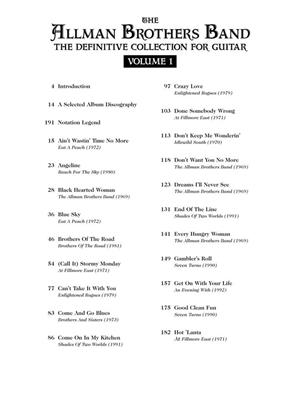 Allman Brothers: The Allman Brothers Band Vol. I: Guitar or Lute