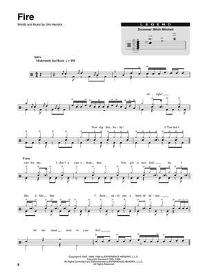 Drum Play-Along Volume 11 Jimi Hendrix Experience Smash Hits