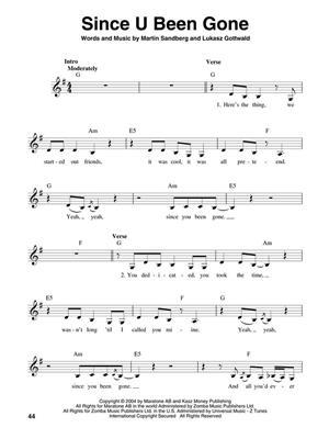 Kelly Clarkson: Kelly Clarkson : Melody, Lyrics & Chords