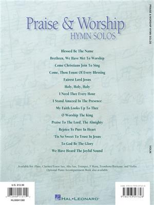 Praise and Worship Hymn Solos - Violin | Musicroom com
