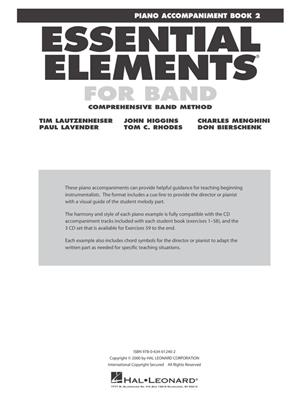 Essential Elements for Band - Book 2 - Piano Acc.: Piano Accompaniment