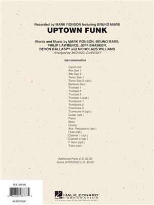 Bruno Mars Uptown Funk Arr Michael Sweeney Jazz
