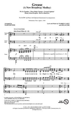 Jim Jacobs: Grease (A new Broadway Medley): Arr. (Mark Brymer): SATB