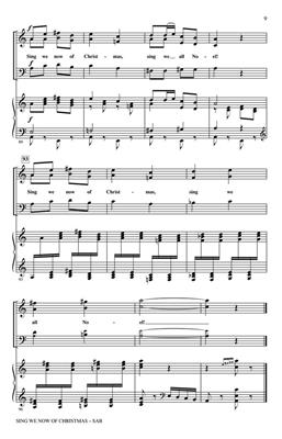 Sing We Now Of Christmas.Traditional Sing We Now Of Christmas Arr John Leavitt