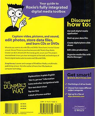 Roxio Easy Media Creator for Dummies: Books on Music
