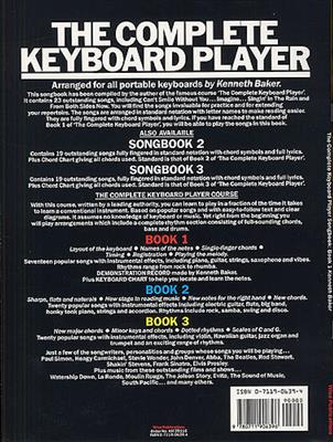 Kenneth Baker: Complete Keyboard Player: Songbook 1: Piano, Vocal and Guitar (songbooks)