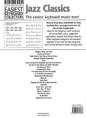 Easiest Keyboard Collection:Jazz Classics: Piano, Vocal and Guitar (songbooks)
