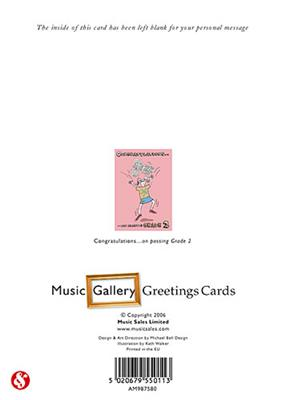 Music Gallery: Congratulations Card Grade 2 (Girl)
