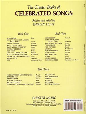The Chester Book Of Celebrated Songs - Book One: Vocal