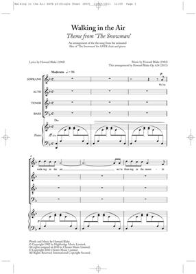 Howard Blake: Walking In The Air (The Snowman) - SATB/Piano: SATB