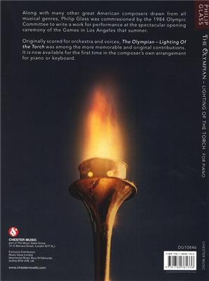 Philip Glass: The Olympian - Lighting Of The Torch: Piano or Keyboard
