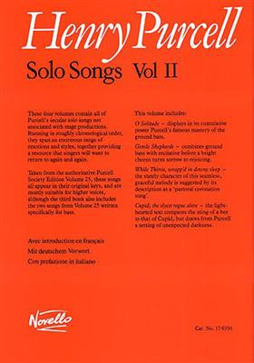 Henry Purcell: Solo Songs Volume II: Vocal