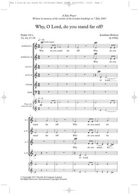Jonathan Bridcut: Why O Lord Do You Stand Far Off?: SATB