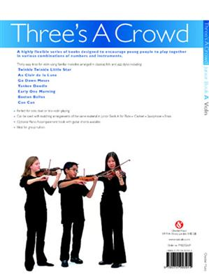 James Power: Three's A Crowd Violin Junior Book A Easy: String Ensemble