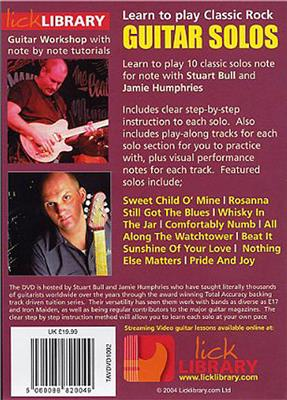 Learn To Play Classic Rock Guitar Solos Volume 2