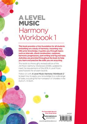 A Level Music Harmony Workbook 1: Books on Music