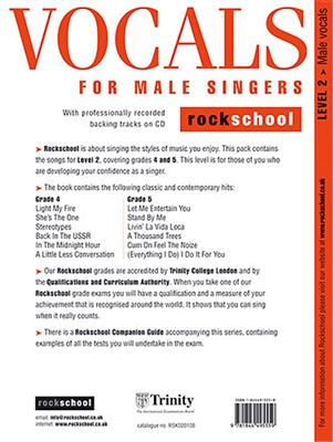 Rockschool Vocals For Male Singers - Level 2: Vocal