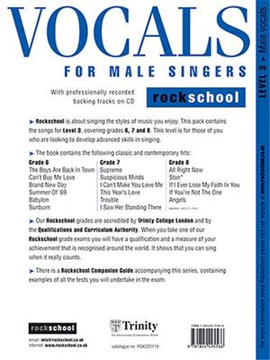Rockschool Vocals For Male Singers - Level 3: Vocal